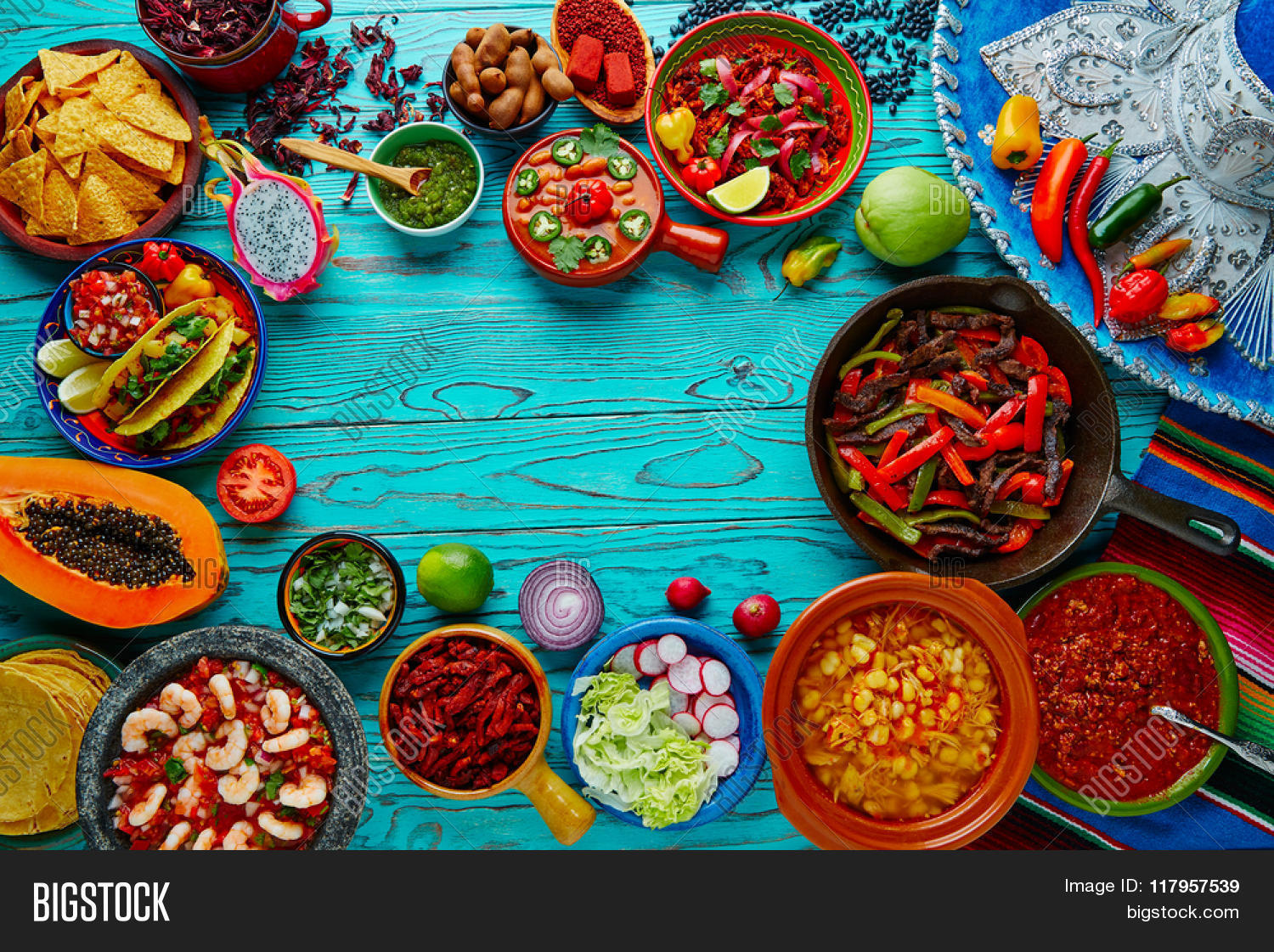 Mexican Food Mix Image Photo Trial Bigstock 1500x1121