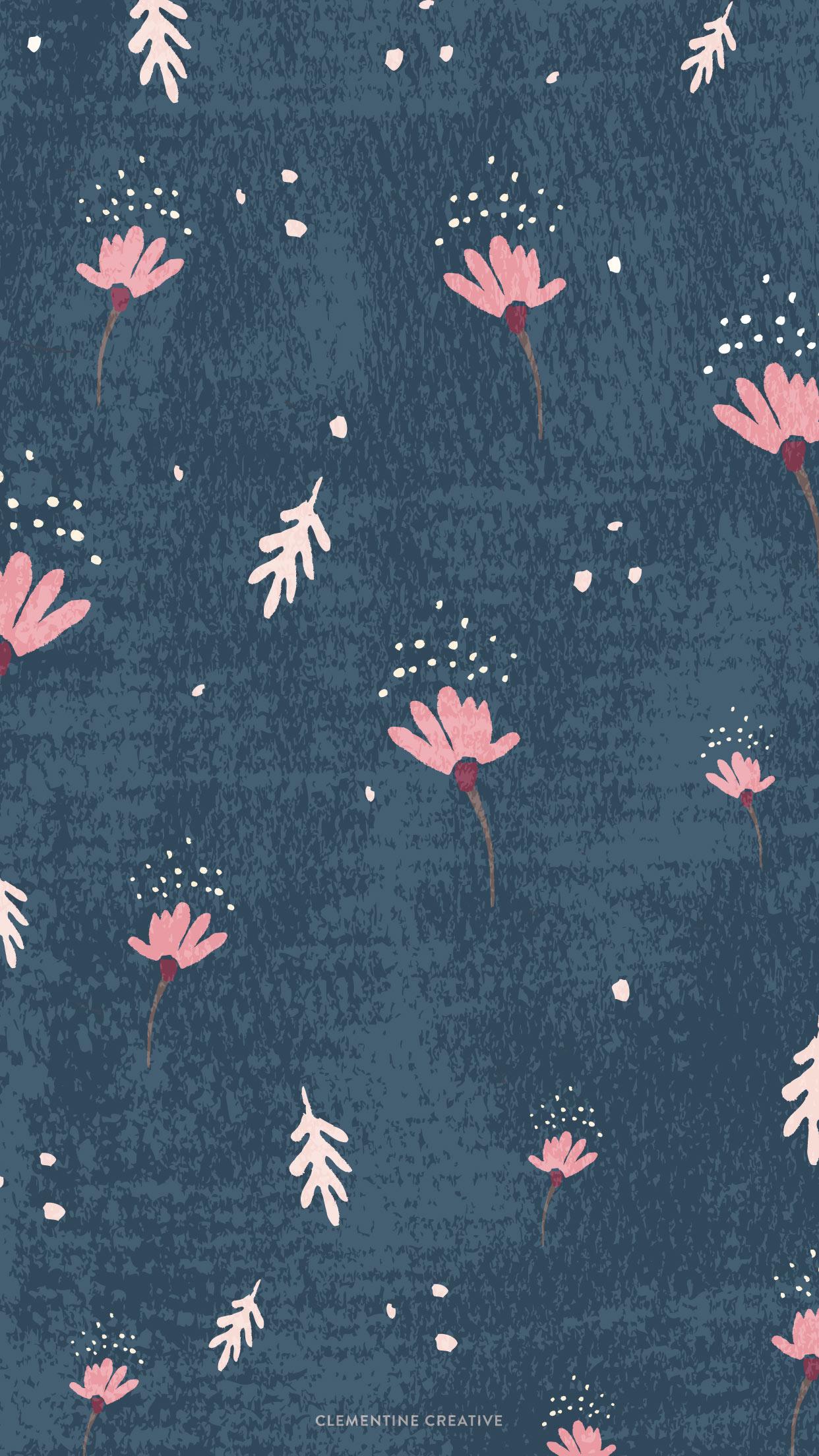 Wallpaper Dainty Falling Flowers 1242x2208