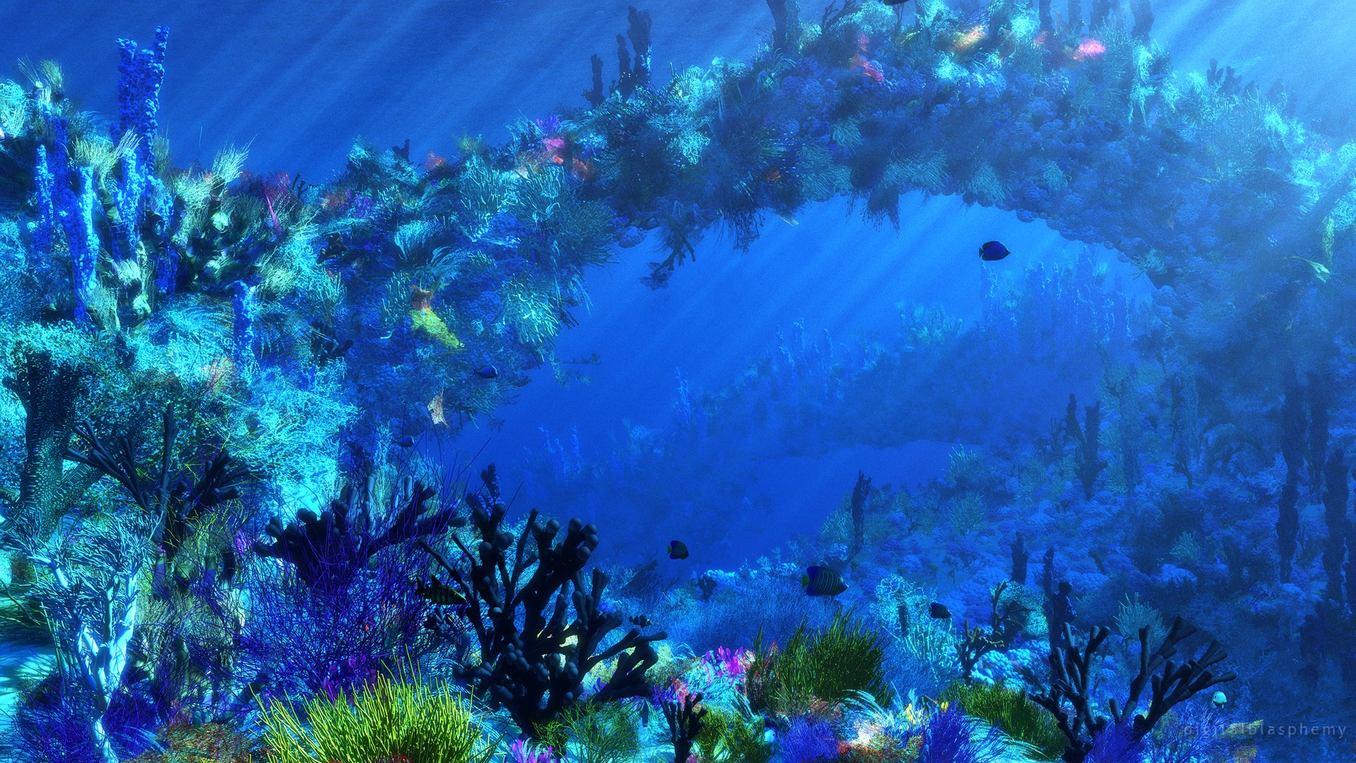 46 underwater ocean wallpaper on wallpapersafari - Underwater desktop background ...