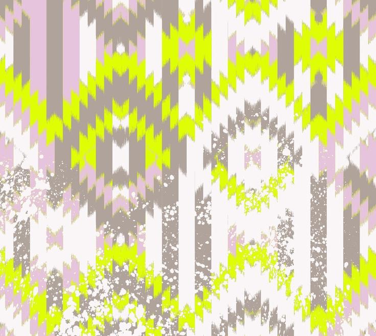 pattern greywhiteneon yellow wallpaper Pinterest 736x659