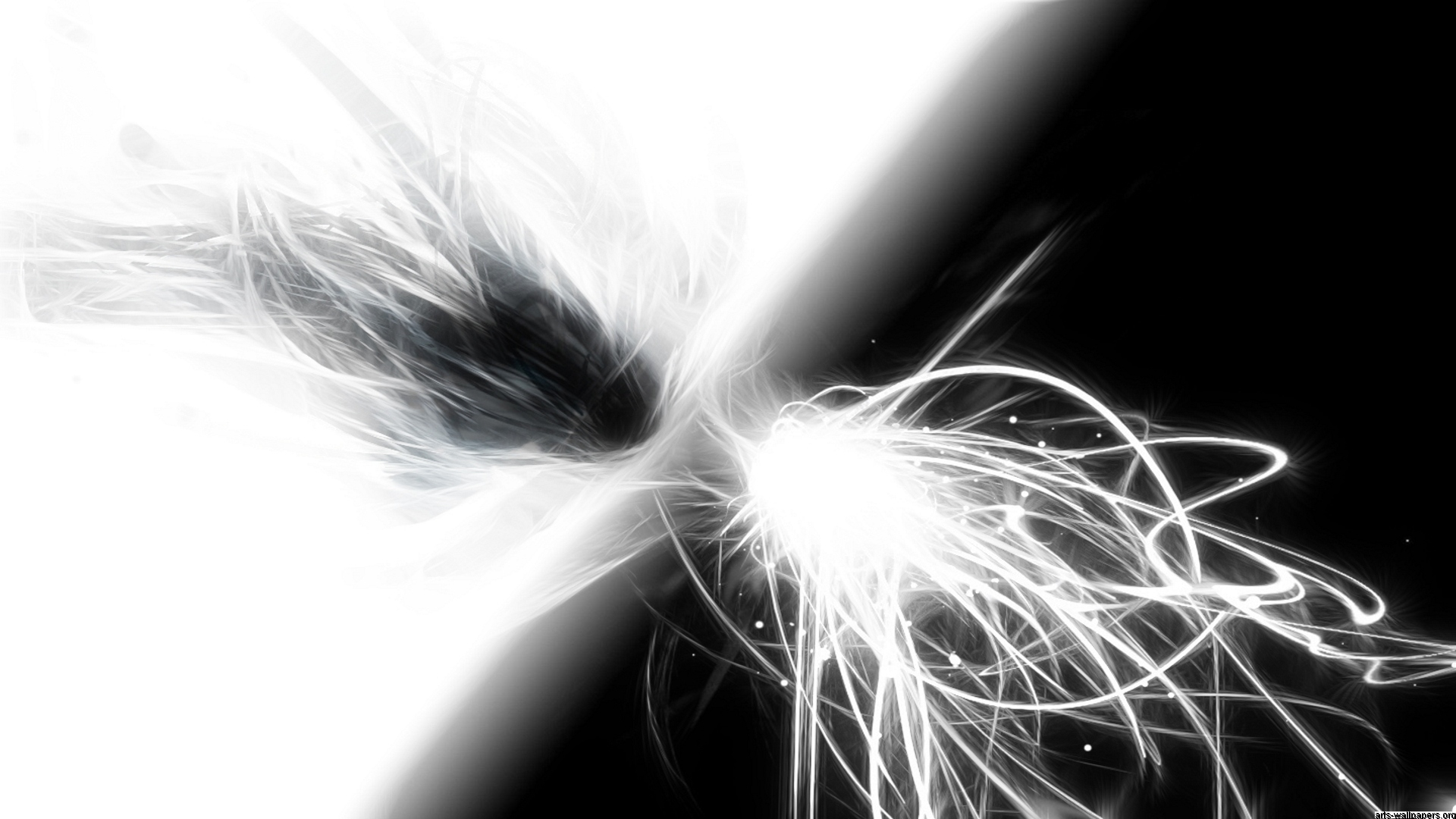 Black And White Abstract Drawings 8 Background 1920x1080
