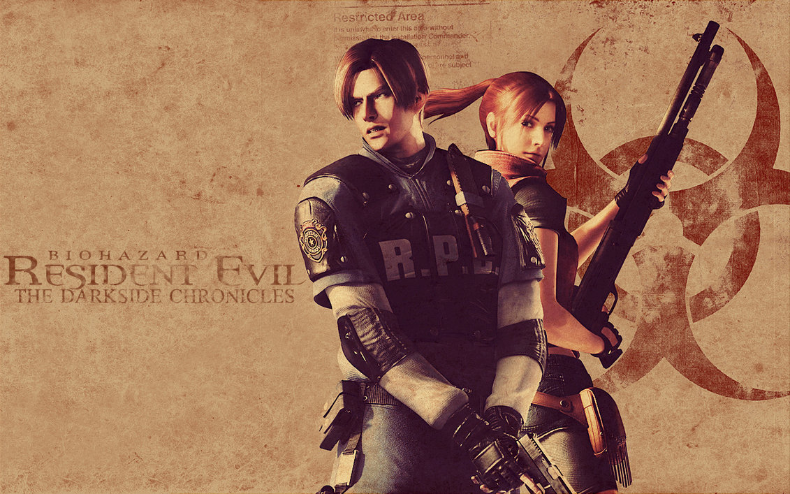 Leon S Kennedy and Claire Redfield by mercscilla 1131x707