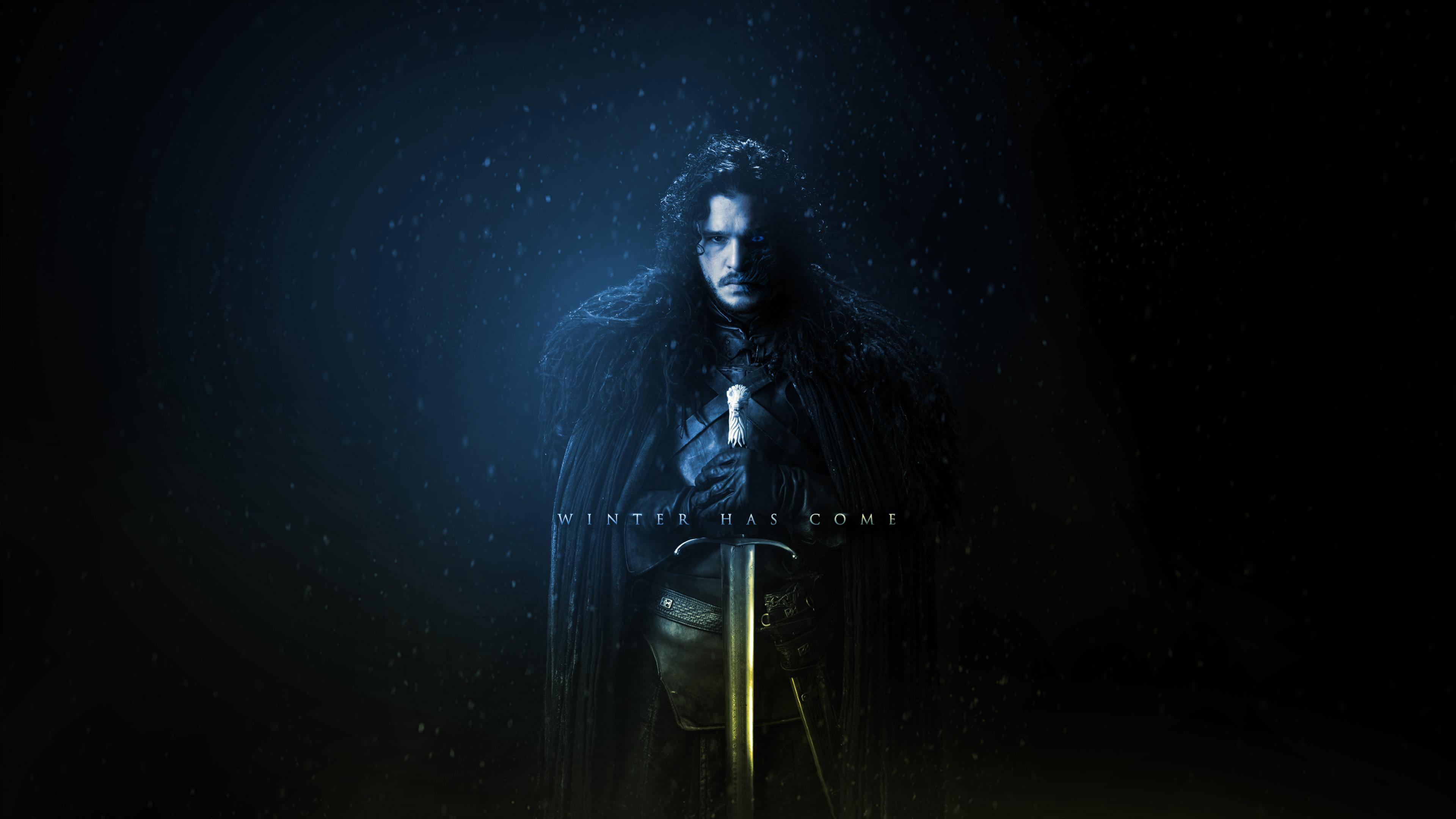 fantasy art digital art Jon Snow Game of Thrones wallpaper 3840x2160