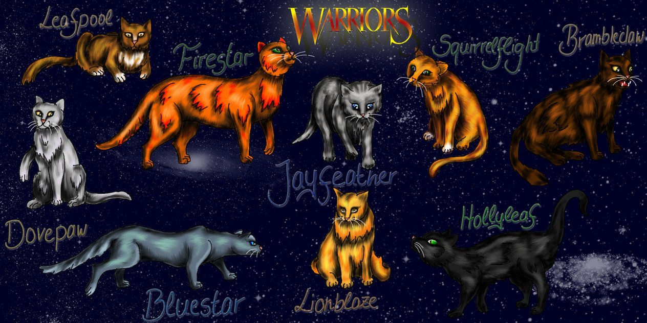 Warrior Cats by NoreyDragon 1264x632