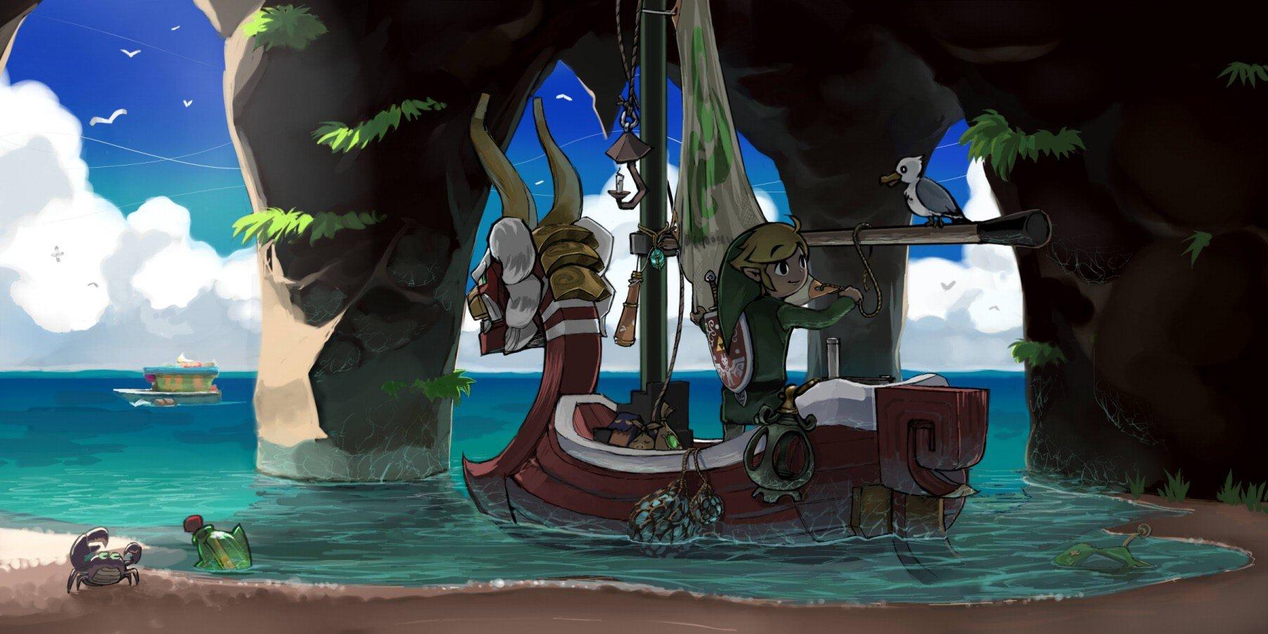 boats crabs The Legend of Zelda The Wind Waker wallpaper background 1800x900