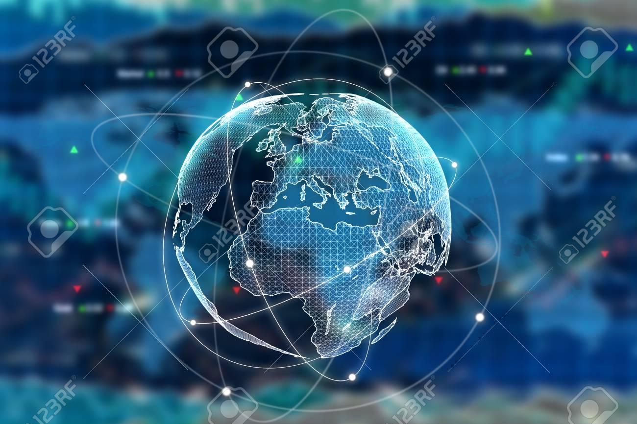 Digital Globe On Forex Background International Business Concept 1300x866