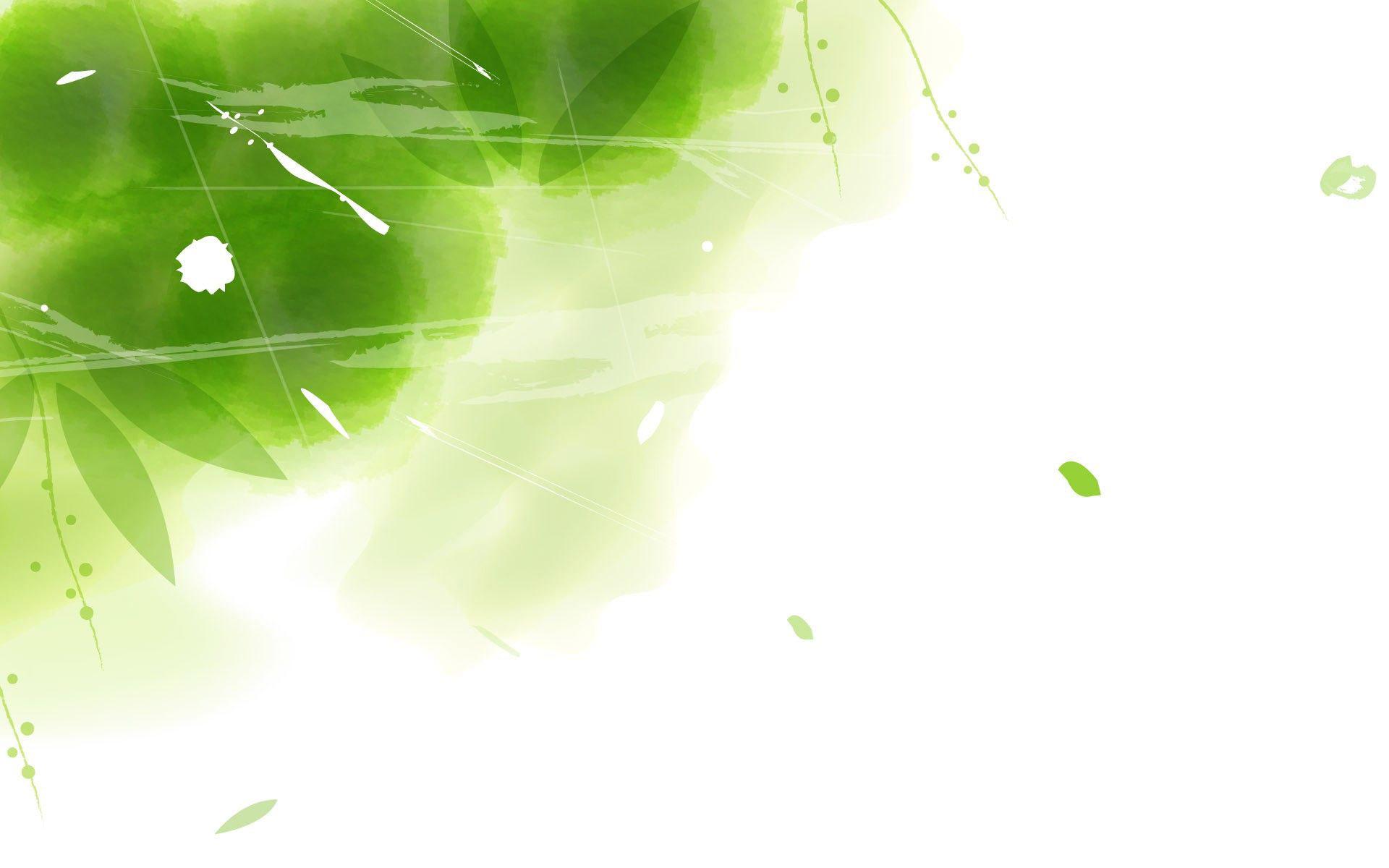 Falling green leaves wallpaper 13591 1920x1200
