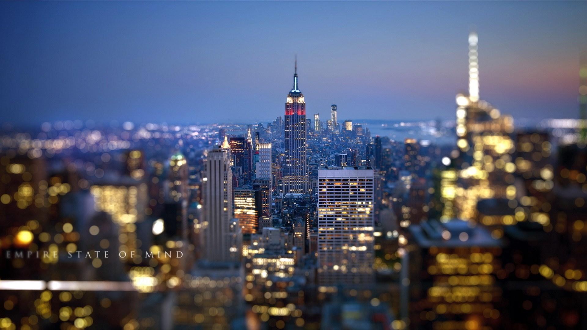 Empire State New York At Night Wallpaper WallpaperLepi 1920x1080