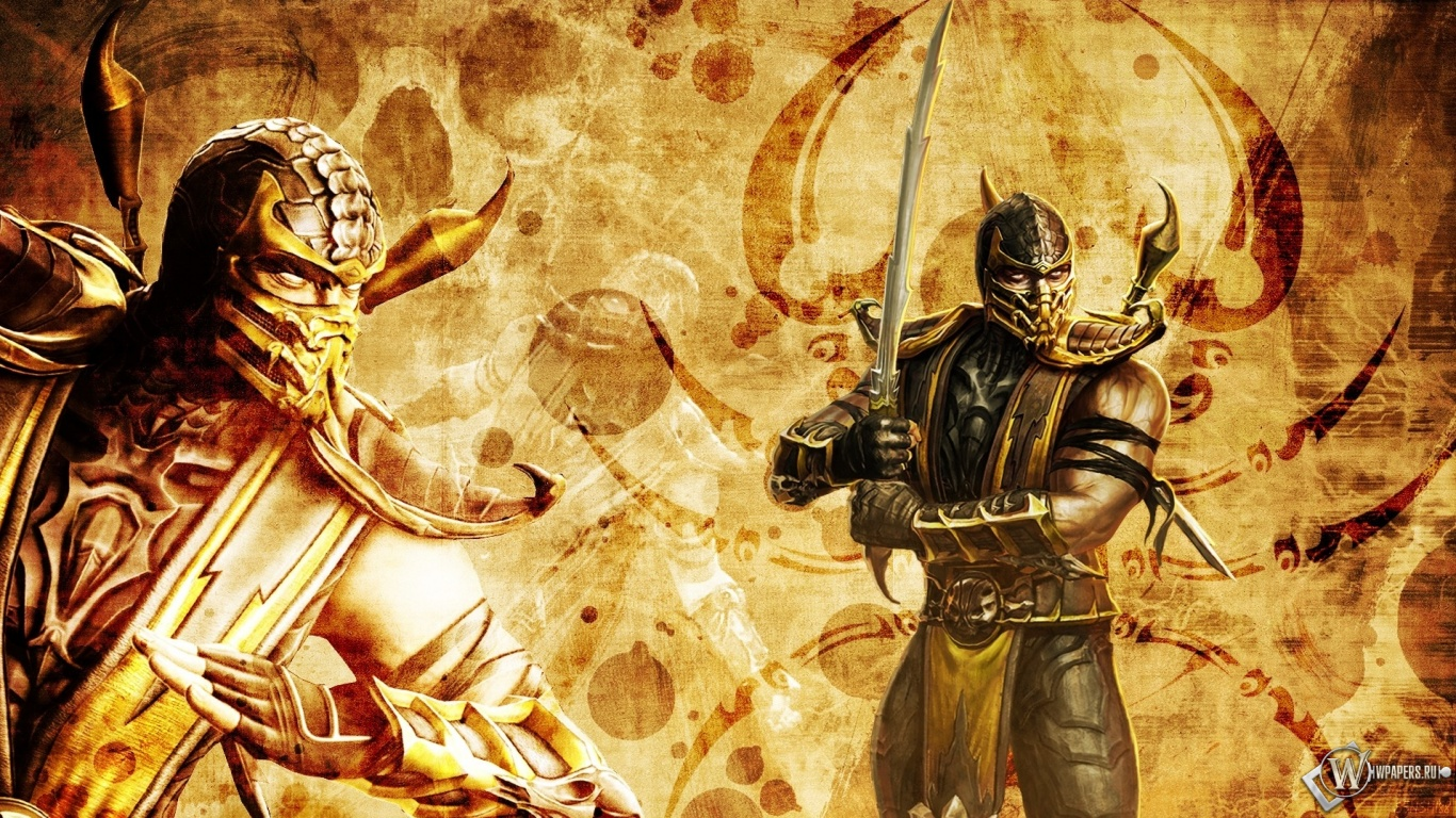 Scorpion Mortal Kombat Wallpaper HD 22495 Wallpaper HDwallsize 1366x768