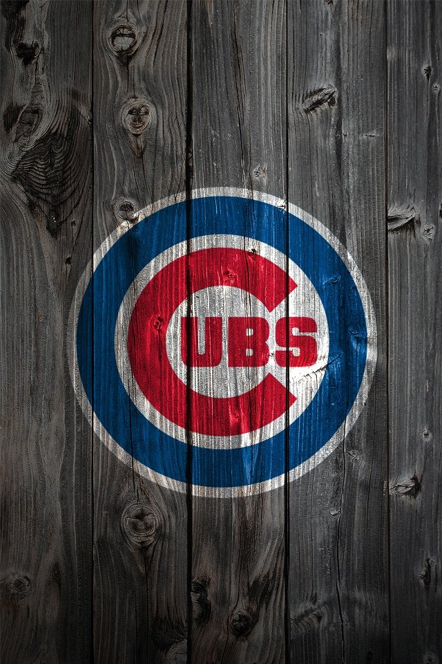 Cubs iPhone Wallpaper Background MLB WALLPAPERS Pinterest Cubs 640x960