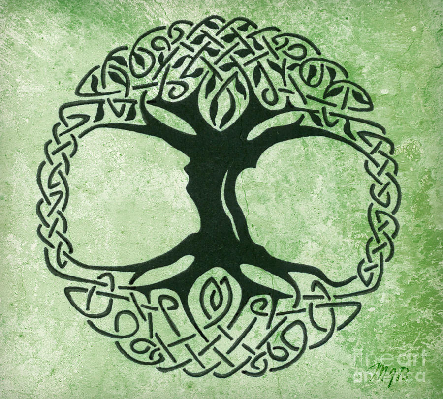 Iphone 5 Wallpaper Celtic Tree Of Life Drawing 900x811