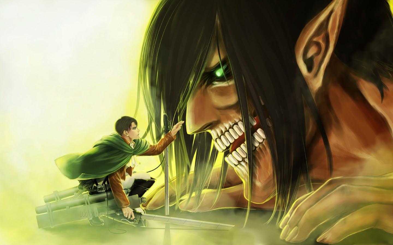 Rivaille Rogue Titan Eren Jaeger Shingeki no Kyojin Attack on Titan 1440x900