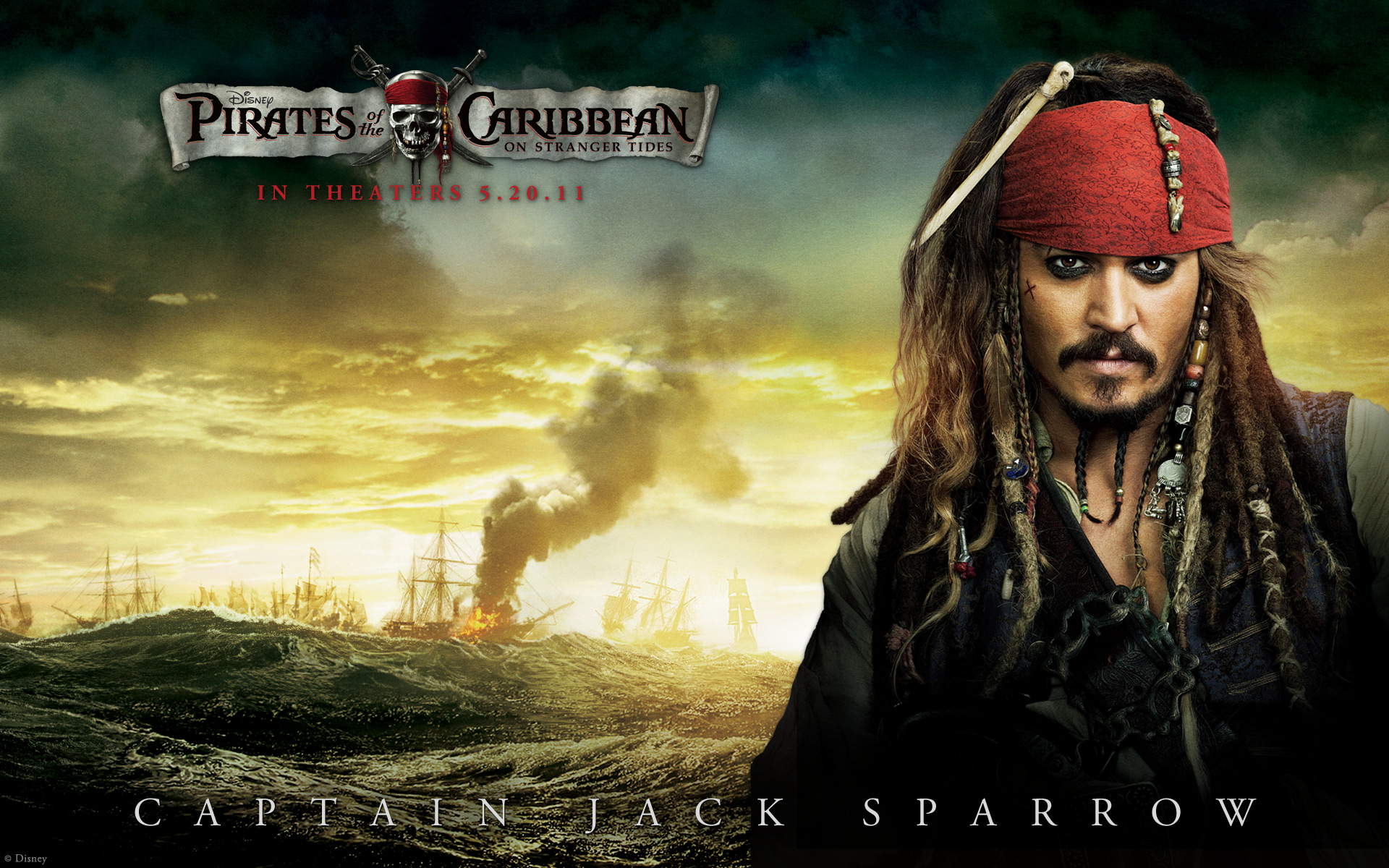 Johnny Depp in Pirates Of The Caribbean 4 Wallpapers HD Wallpapers 1920x1200
