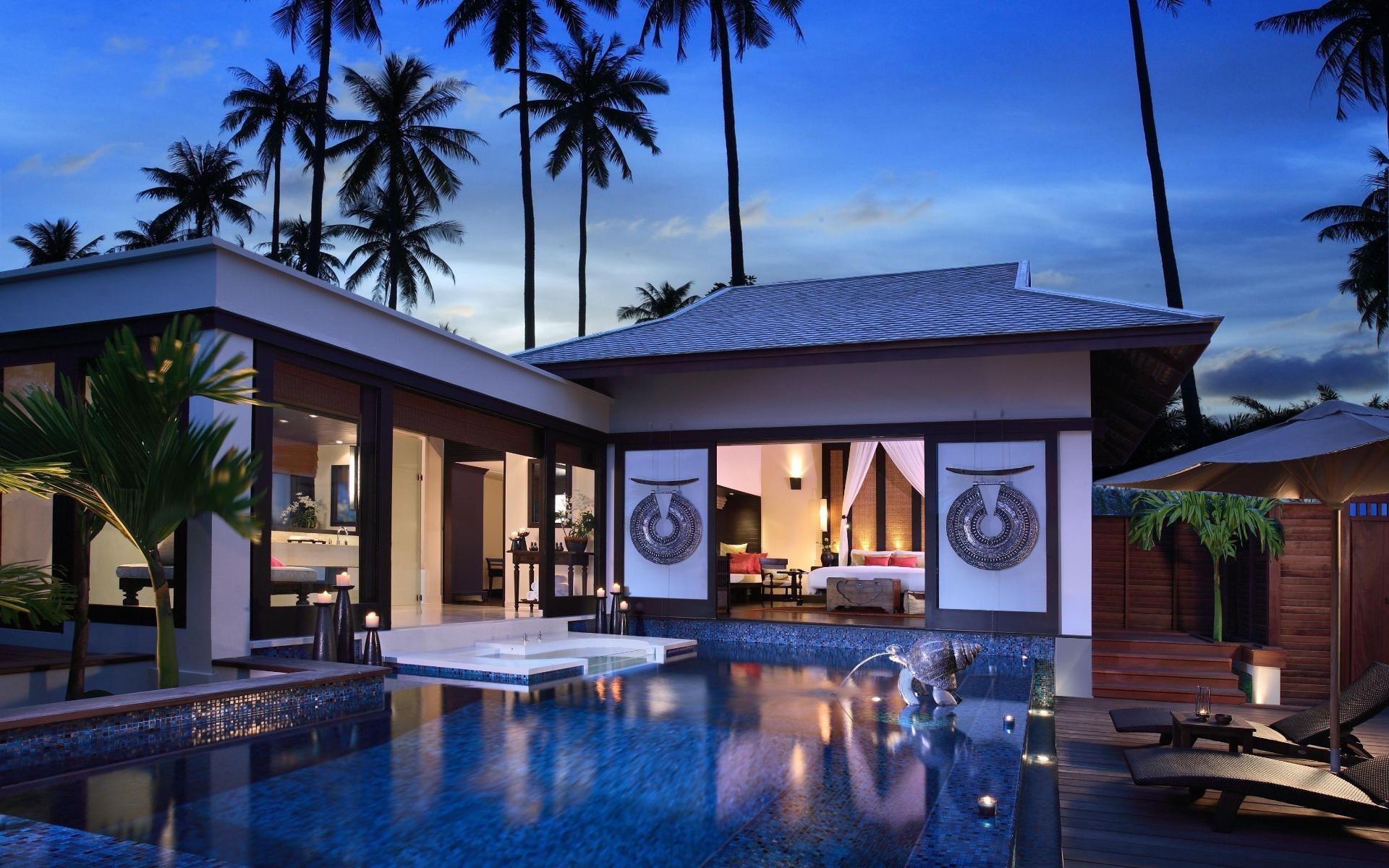 Modern beach house wallpaper 6425 1920x1200