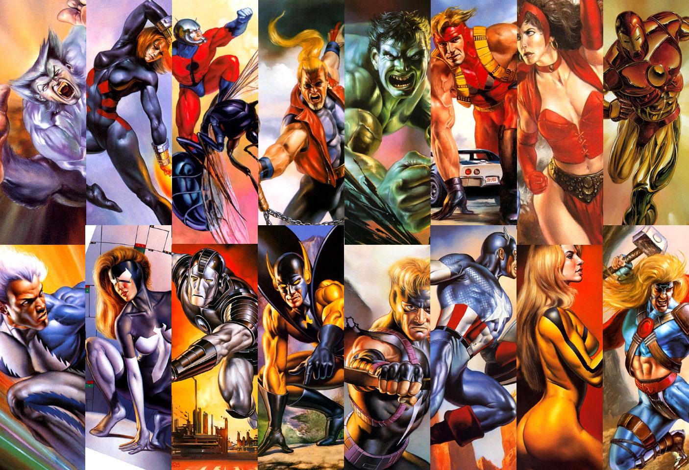 DC Marvel Superheroes Wallpaper - WallpaperSafari