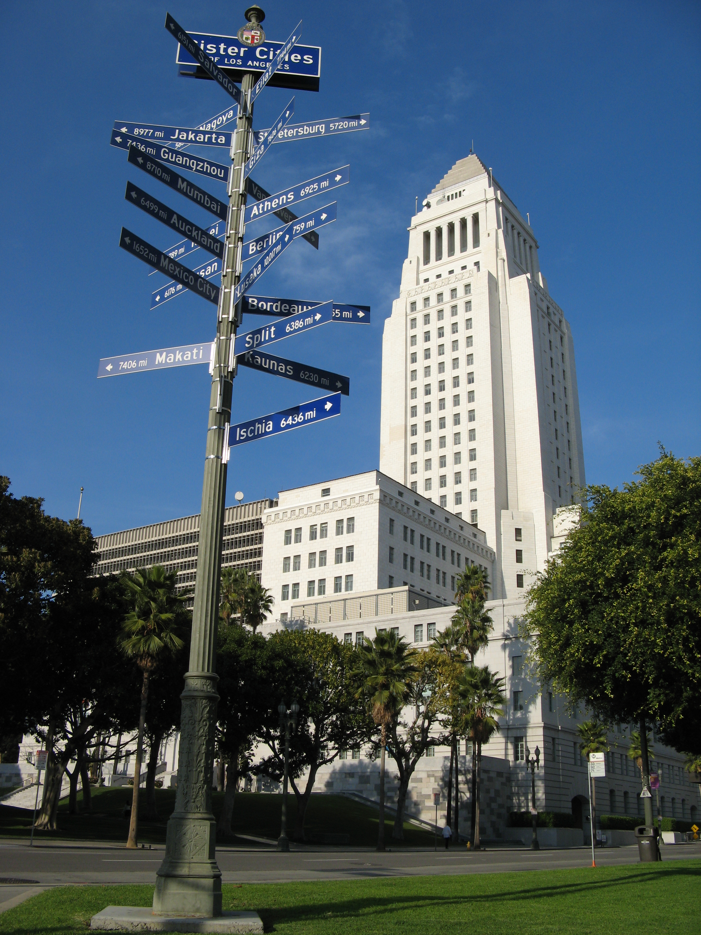 Los Angeles City Hall Wallpaper Wide Screen Wallpaper 1080p2K4K 2304x3072