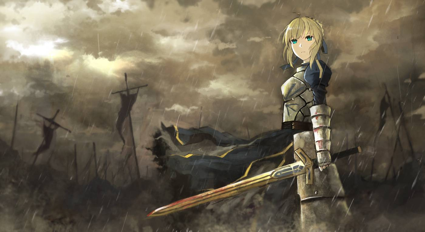 Saber   FateStay Night Wallpaper 1400x764