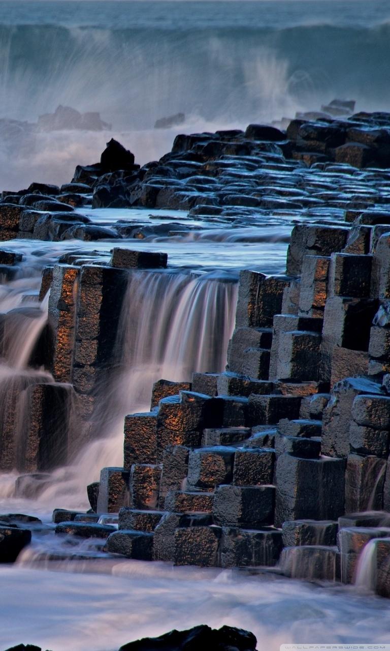 Giants Causeway Antrim Northern Ireland 4K HD Desktop Wallpaper 768x1280