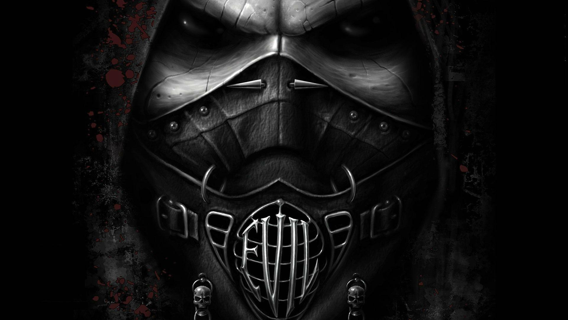 Dark horror mask evil gothic face eyes wallpaper 1920x1080 30329 1920x1080