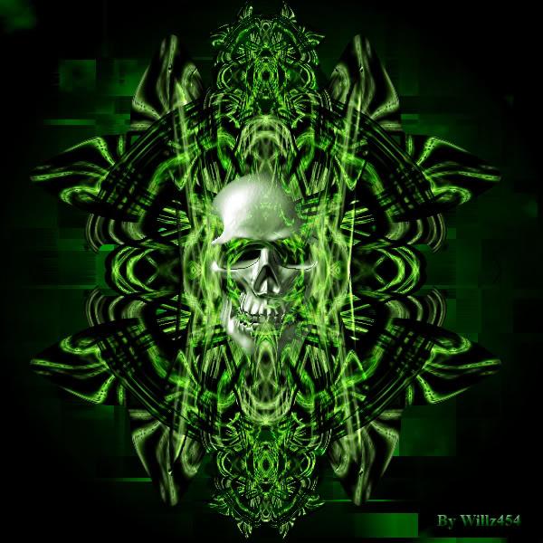 Green Fire Skull Wallpaper Captain A Ghost 600x600