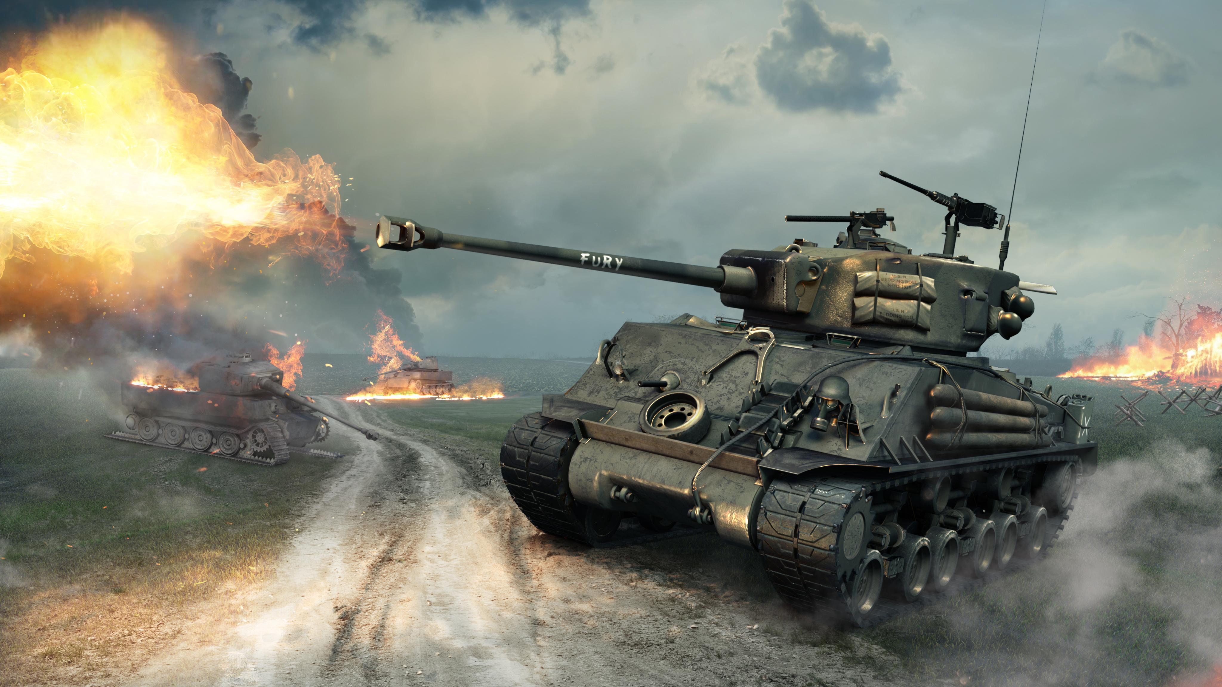 Fury M4 Sherman Tank in World of Tanks 4096x2304