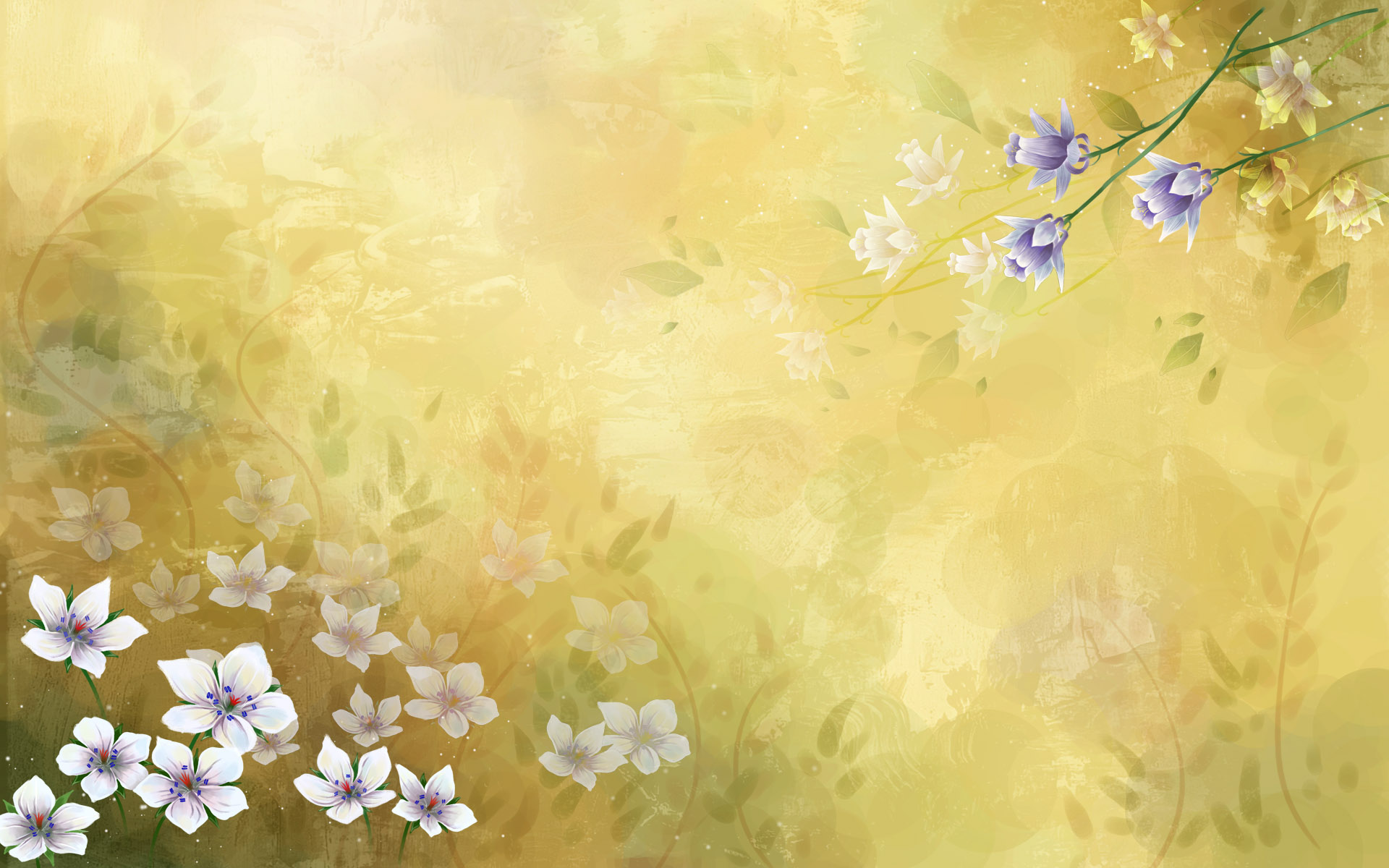 Synthesis of high definition Bright Flowers 11961   Synthetic 1920x1200