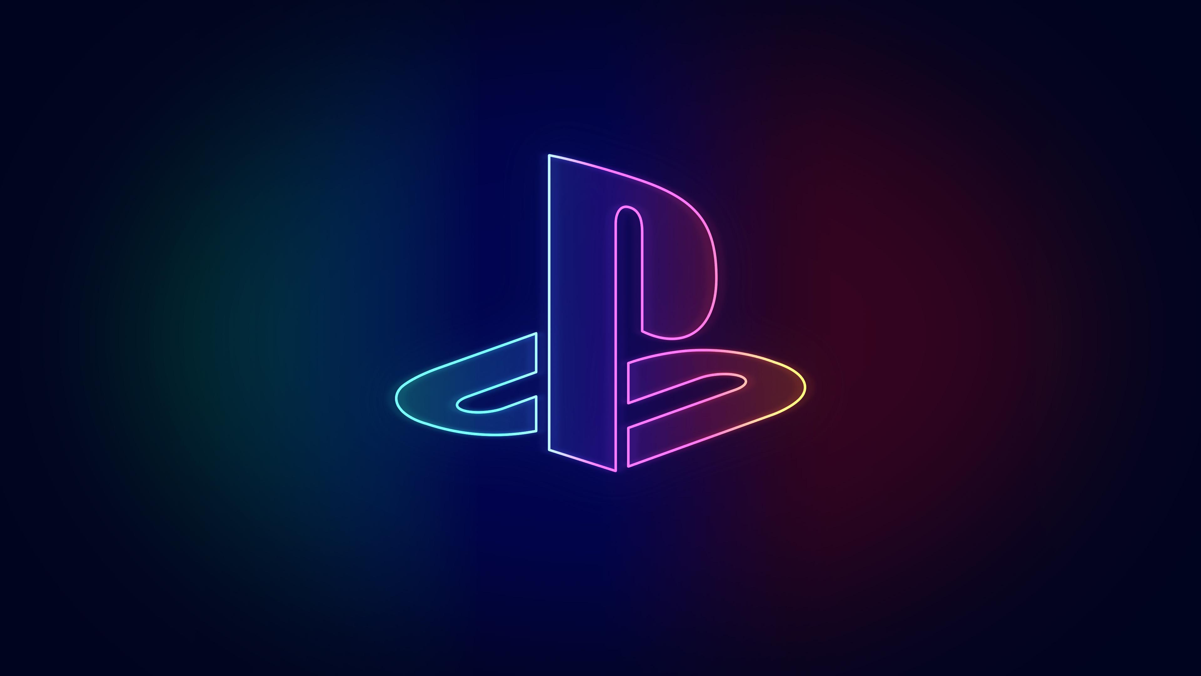 Neon Playstation wallpaper [3840 x 2160] playstation 3840x2160