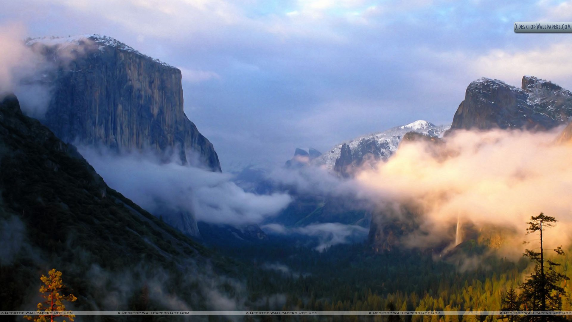 Light Falls On The Valley Yosemite National Park California Wallpaper 1920x1080