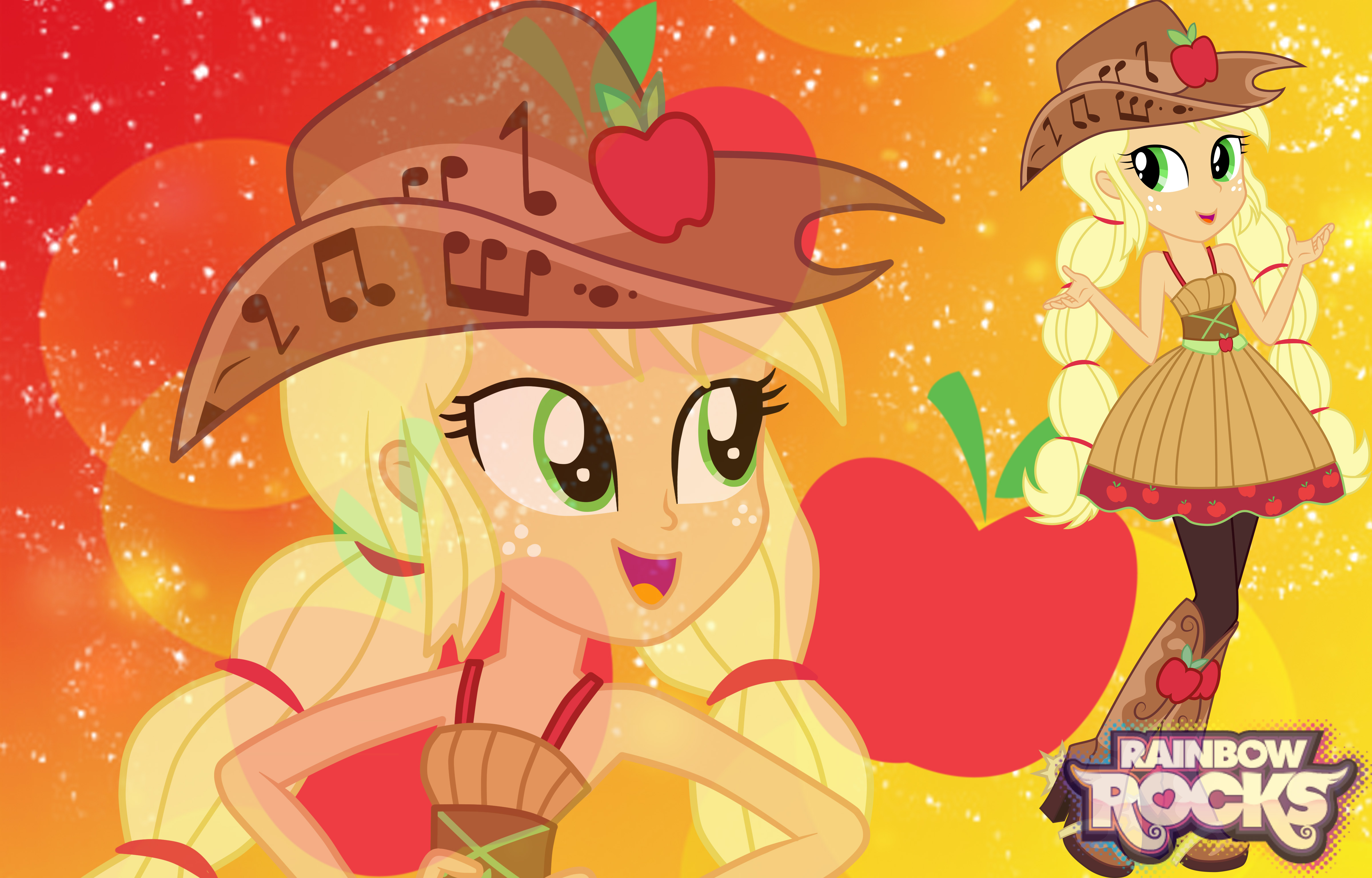 Applejack   Friendship Though The Ages Background by Sasami87 on 4800x3072
