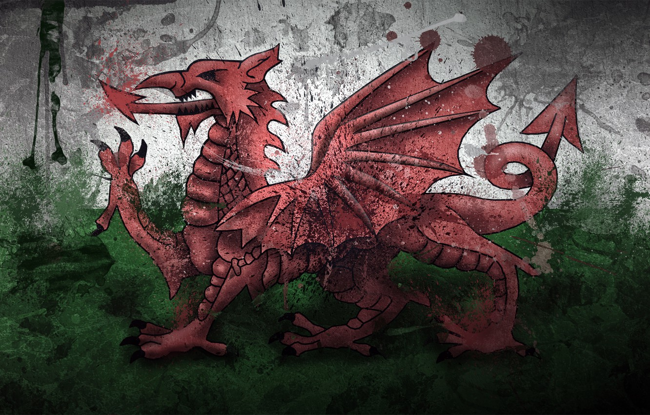 Wallpaper paint Dragon flag Wales Wales Wales images for 1332x850