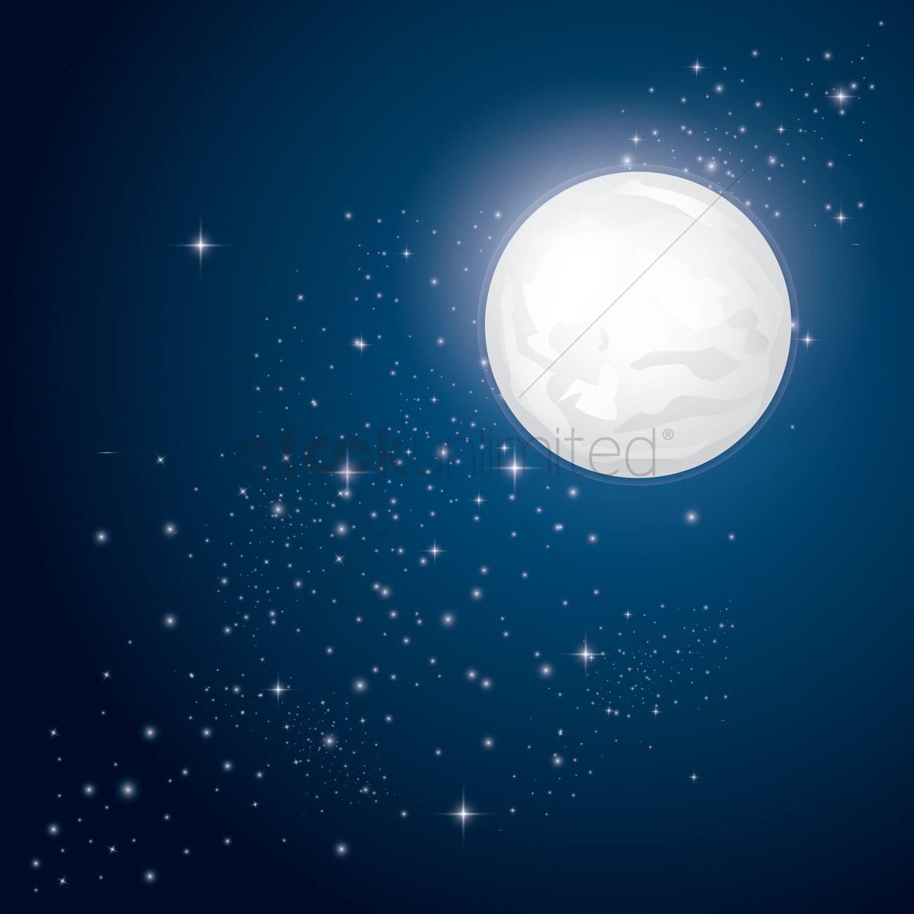Moon and stars background wallpapersafari