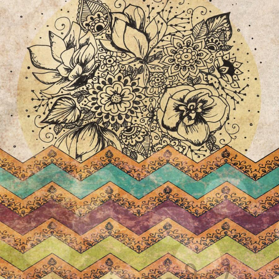 boho chic bohemian art boho poster chevron tribal aztec pattern 900x900