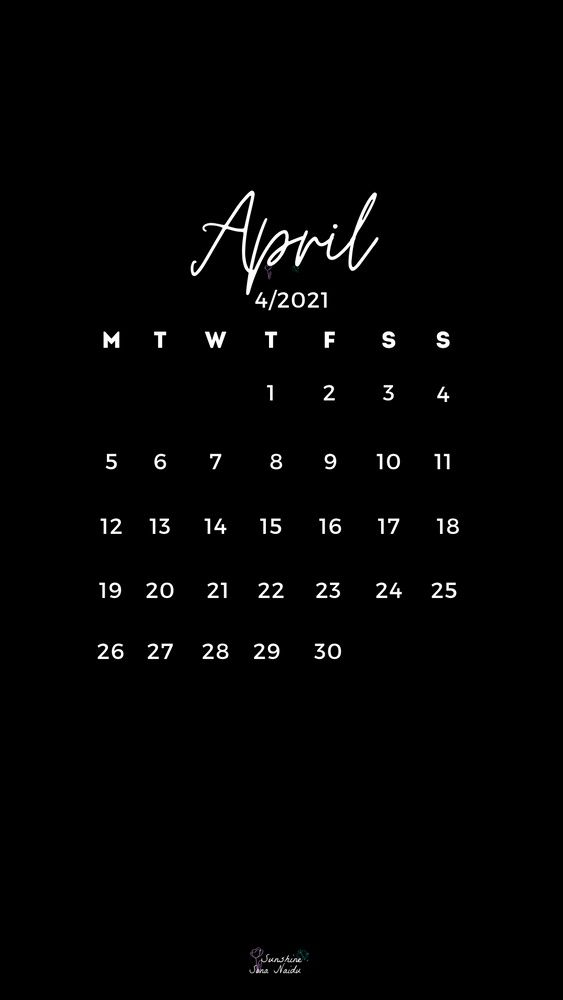 April 2021 wallpaper HD in 2021 Calendar wallpaper Print 563x1000