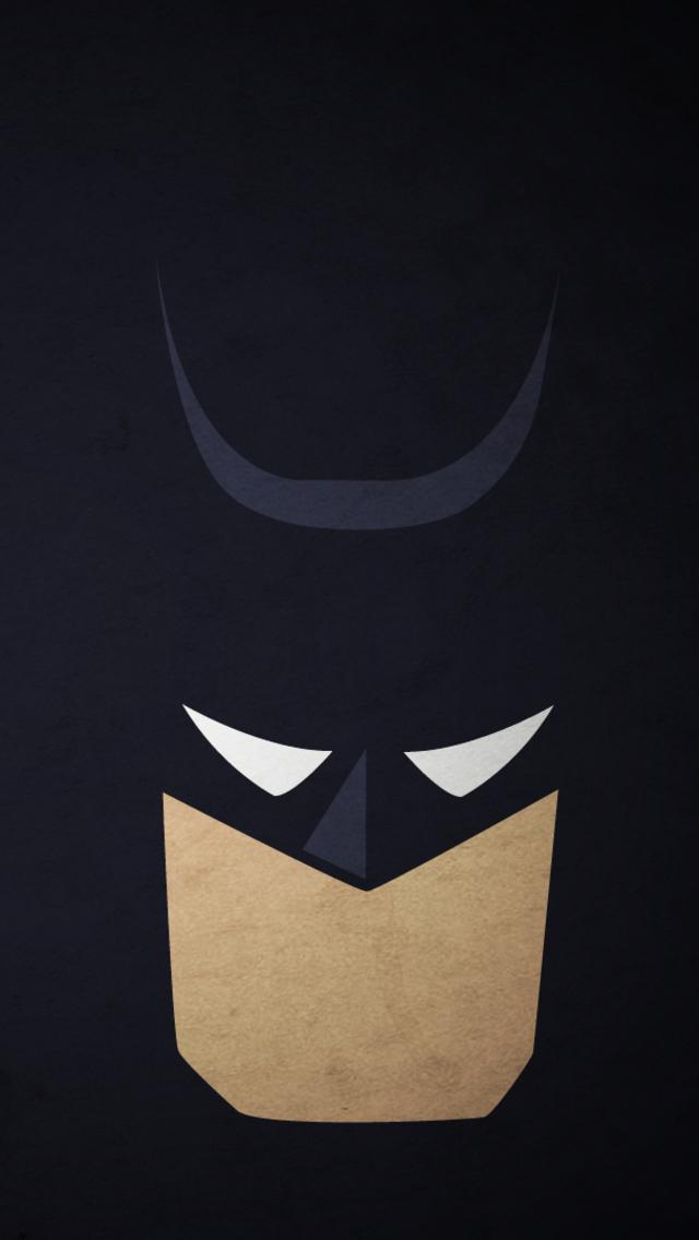 Simple Batman Face iPhone 5 Wallpaper 640x1136 640x1136