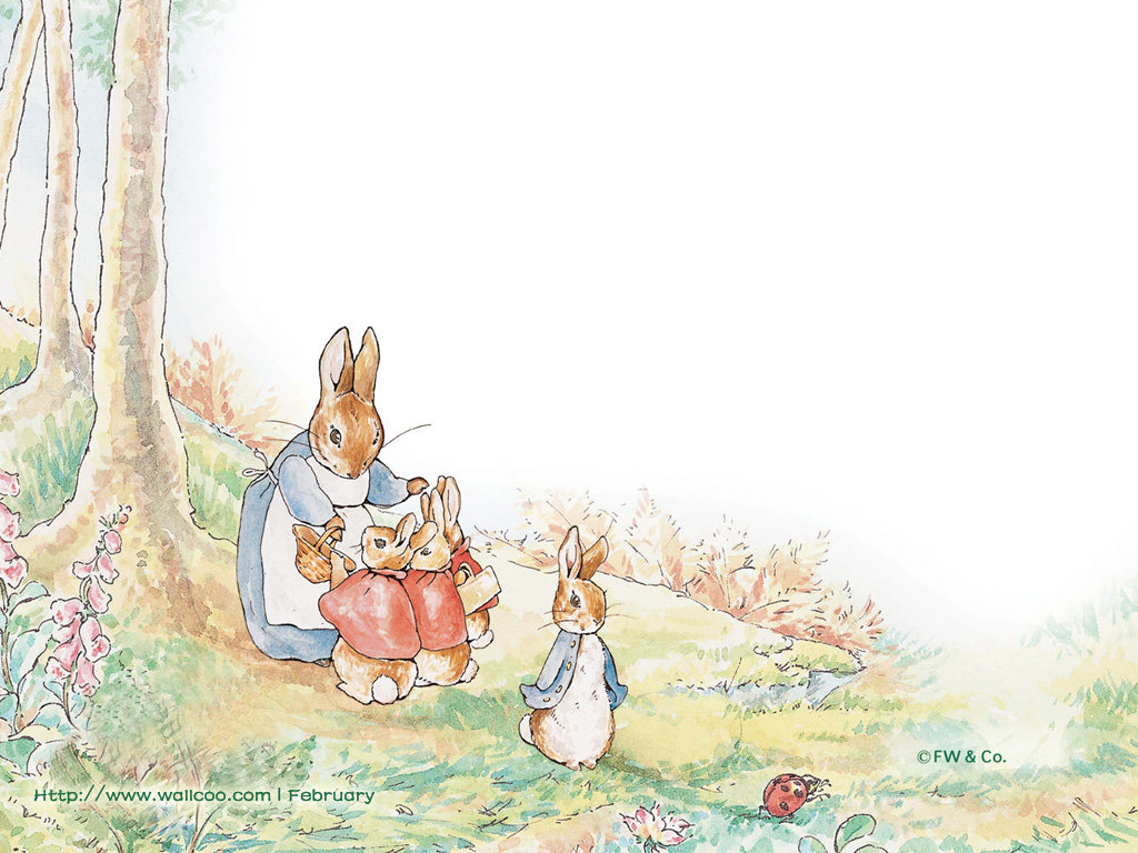 Beatrix potter wallpaper wallpapersafari - Peter rabbit nursery border ...