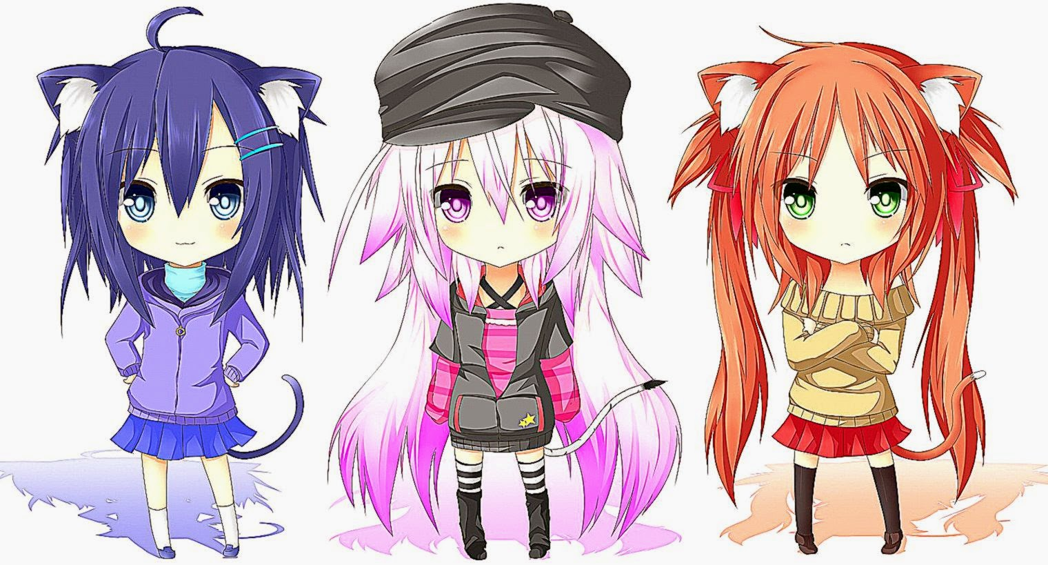 Anime Girl Cute Chibi Images Hd Wallpaper Important Wallpapers 1520x819