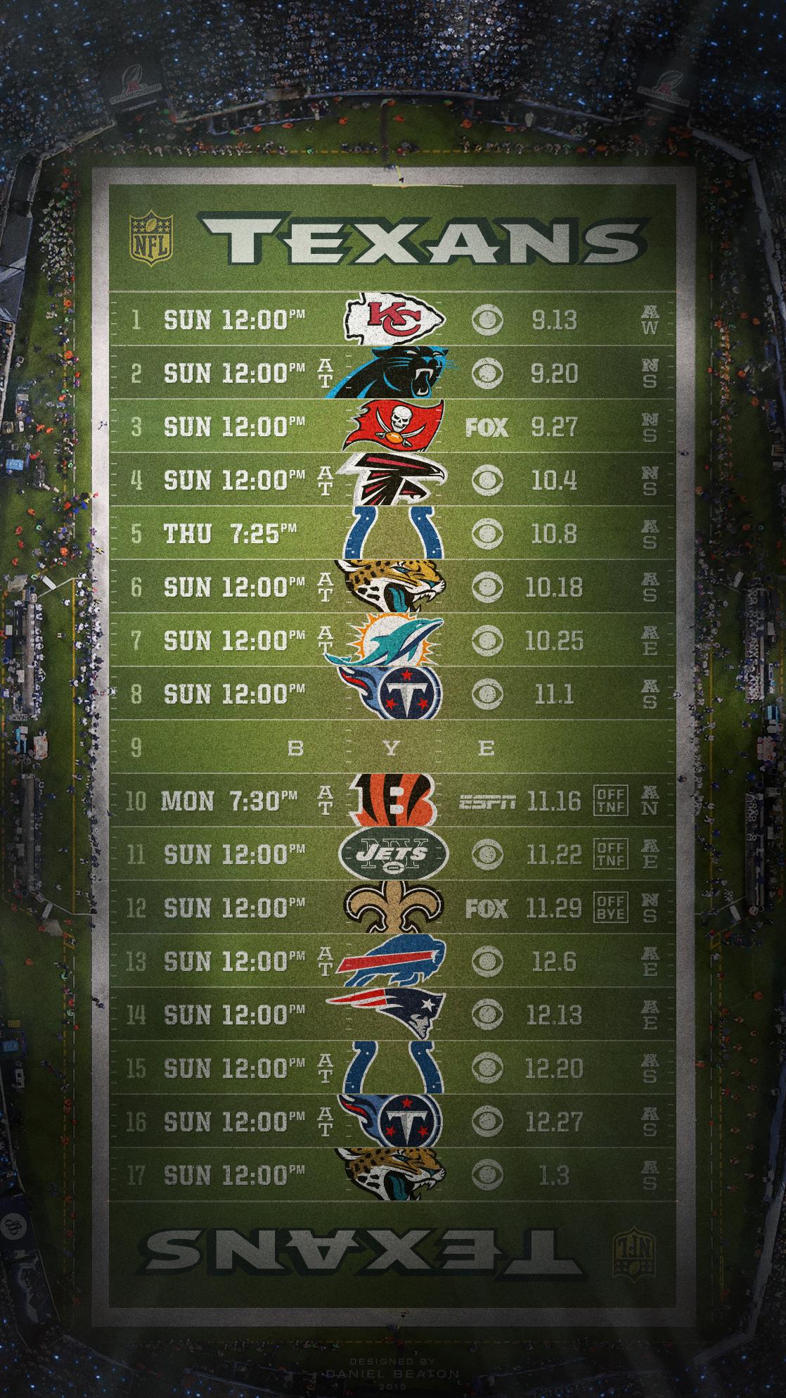 Houston Texans 2015 Schedule Wallpaper Wallpapersafari