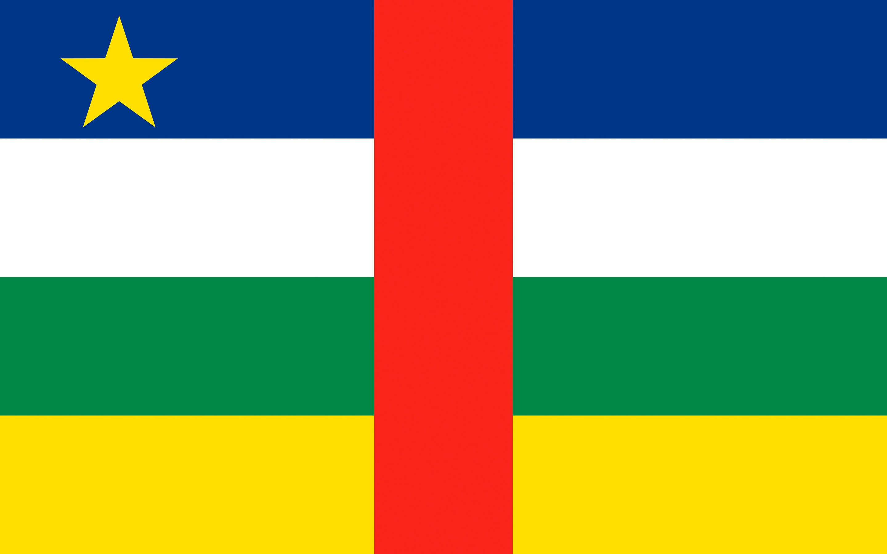 Photo Central African Republic Flag 2880x1800 2880x1800