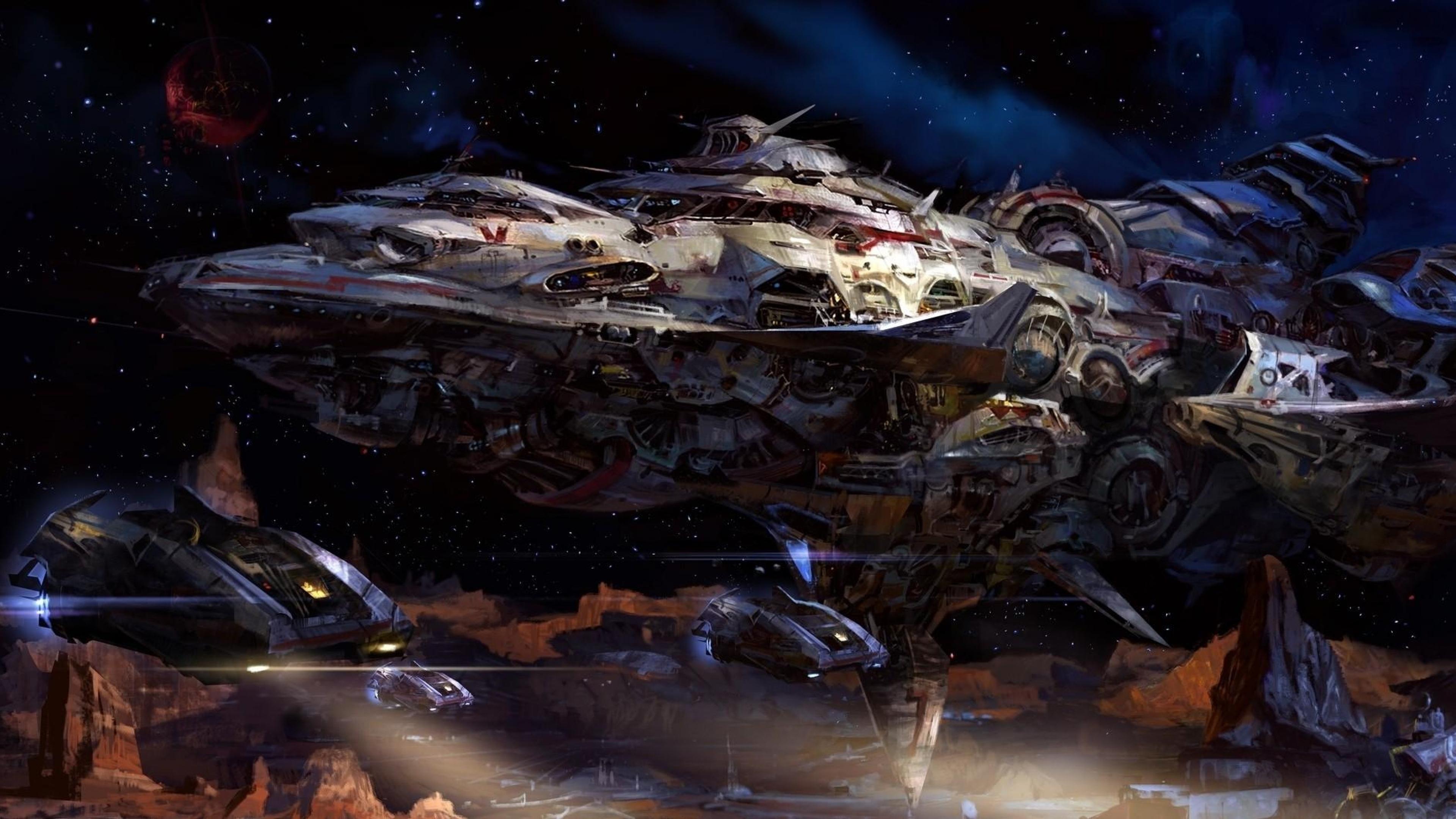 4k ultra hd space wallpaper wallpapersafari - Spaceship wallpaper 4k ...