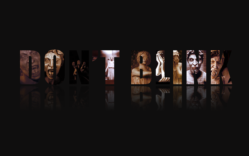 Weeping Angels Wallpaper Text typography doctor who 800x500