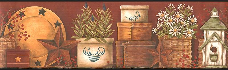Pottery Barn Wallpaper Border Wallpapersafari