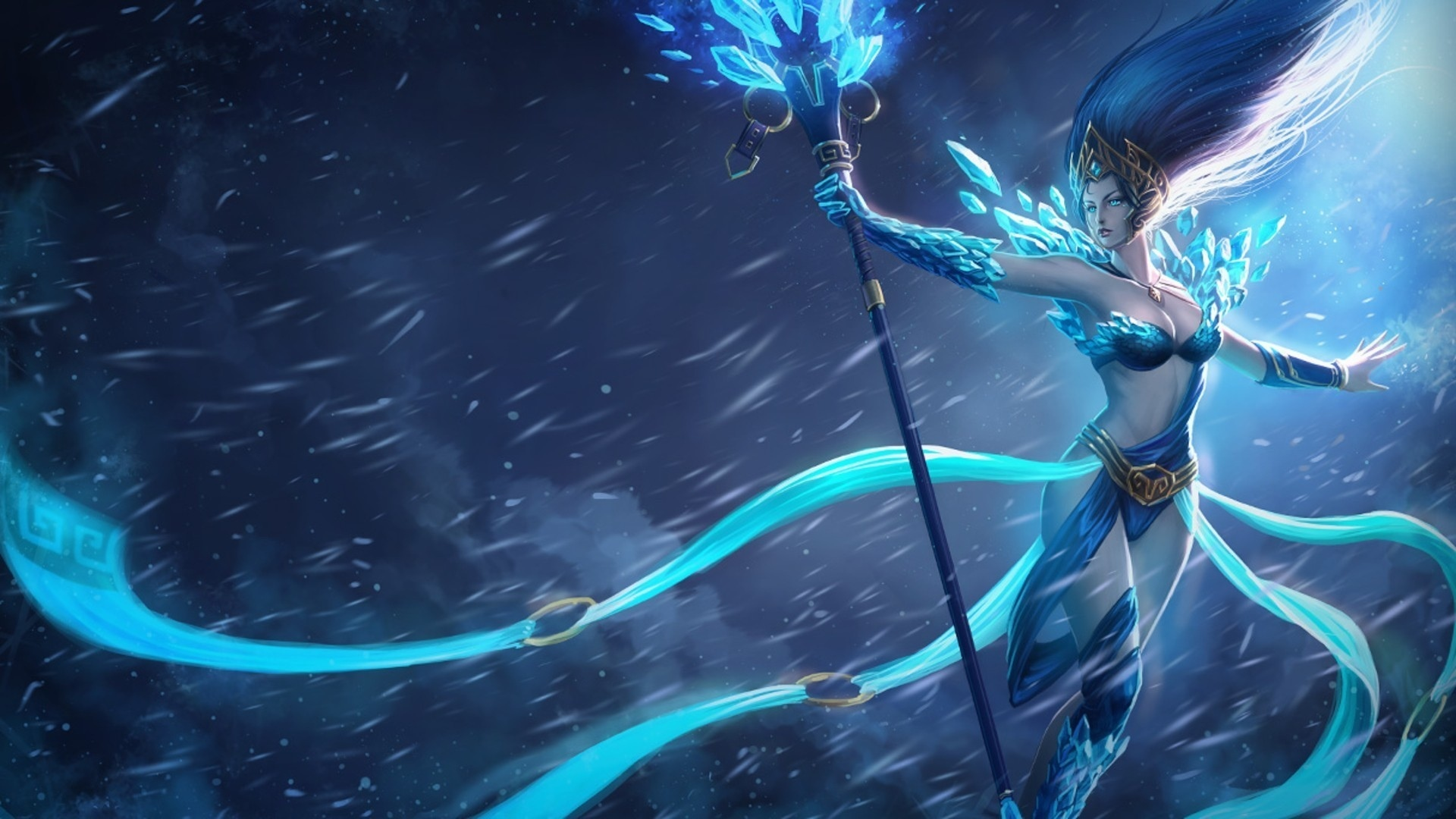 Blue Fantasy Girl   Wallpaper High Definition High Quality 1920x1080