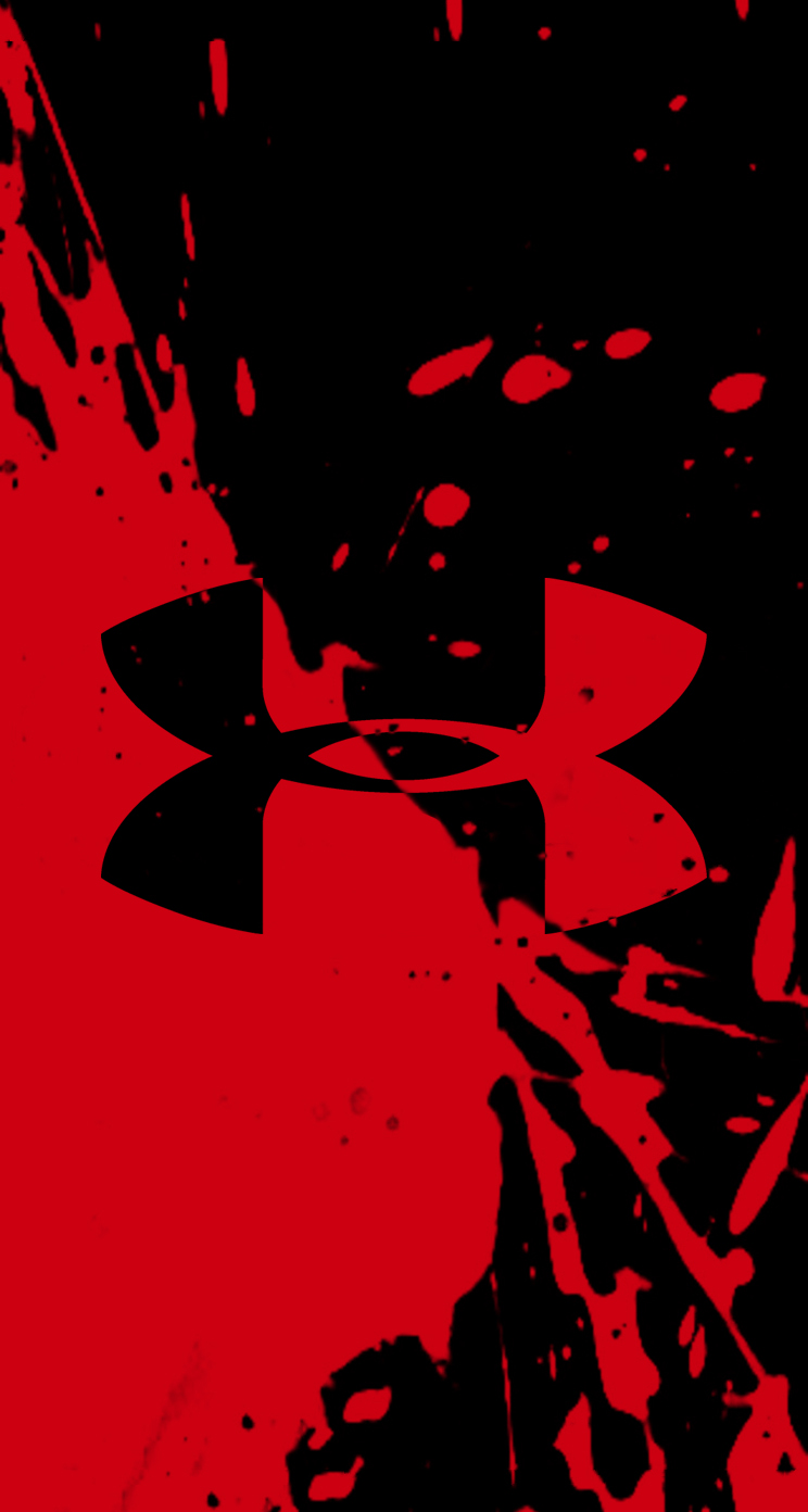 Red Under Armour Logo Wallpaper   Crazy 4 images 744x1392