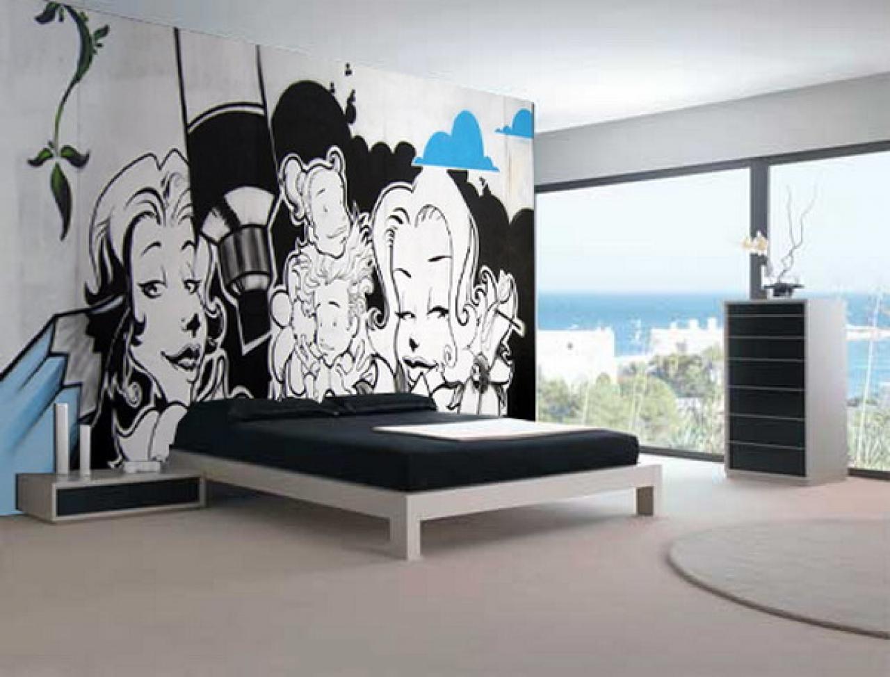 Graffiti boys bedroom ideas picture graffiti bedroom wallpaper 1280x974