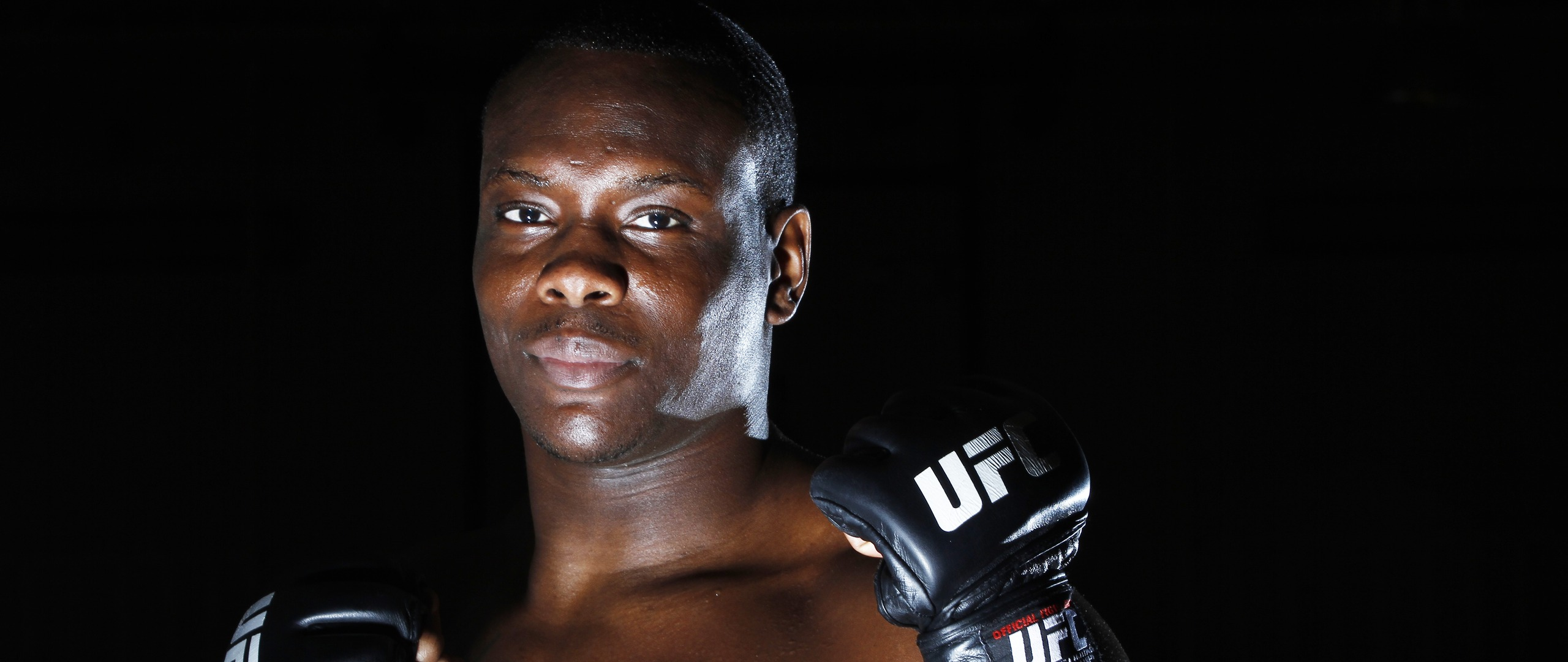 Download wallpaper 2560x1080 ovince saint preux ultimate fighting 2560x1080