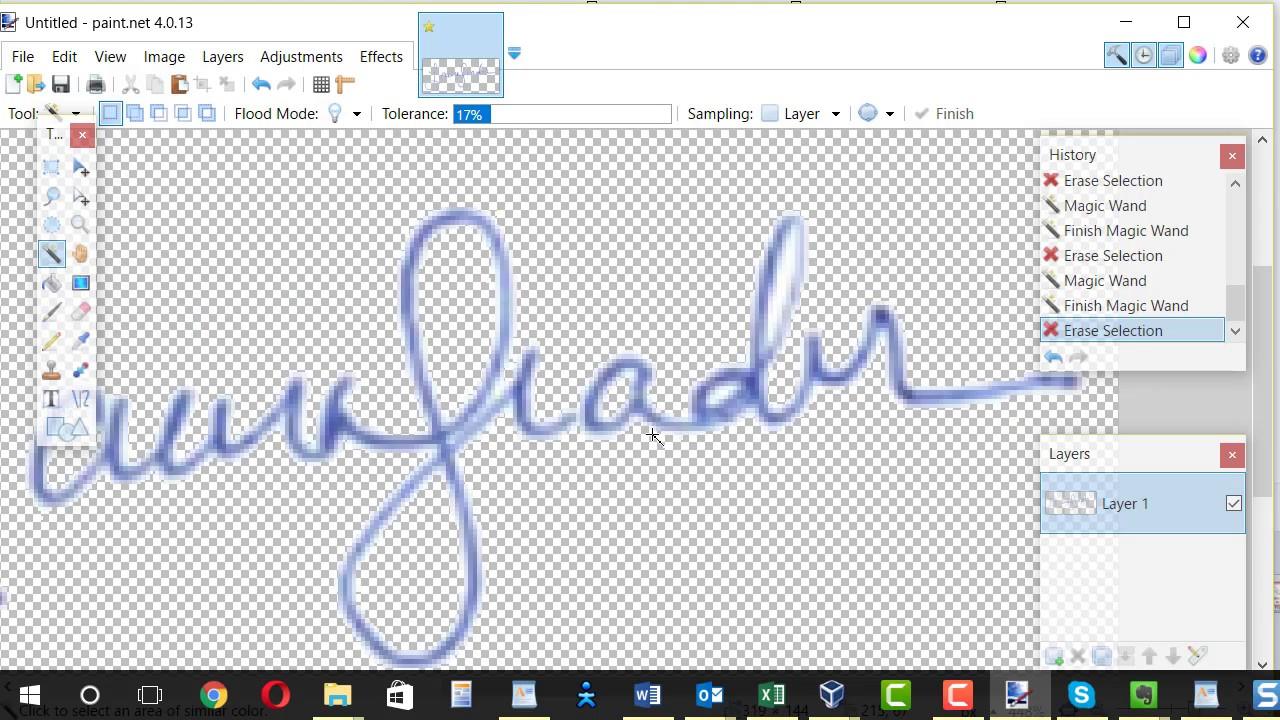 Create signature image with transparent background 1280x720