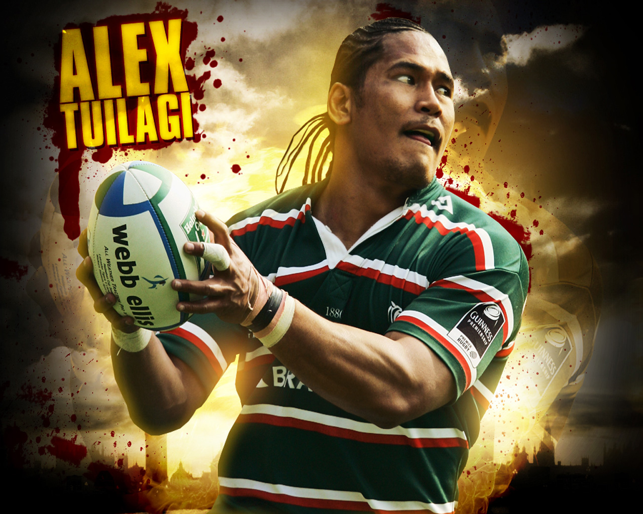 Tuilagi Rugby Player Wallpaper Alex Tuilagi Rugby 1280x1024
