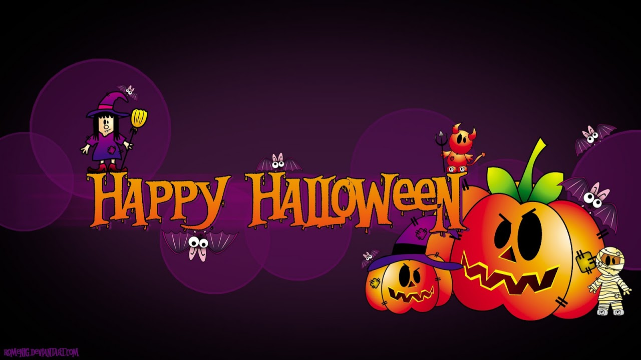 Efeito Photoshop Happy Halloween Wallpaper 1280x720