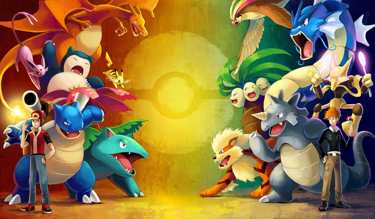 Red vs Blue by arkeis pokemon 1200x700