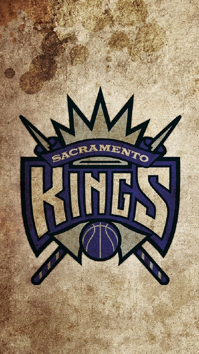 Vintage Sacramento Kings Logo Wallpaper   iPhone Wallpapers 640x1136